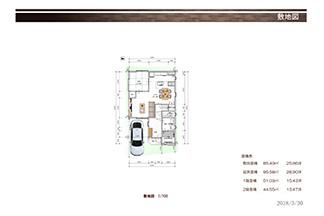 A号地敷地図