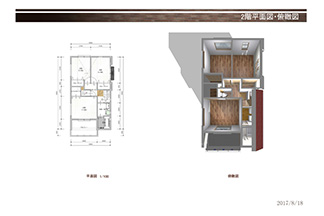 B号地平面図2階