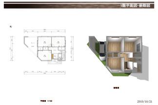 B号地1階平面図・俯瞰図